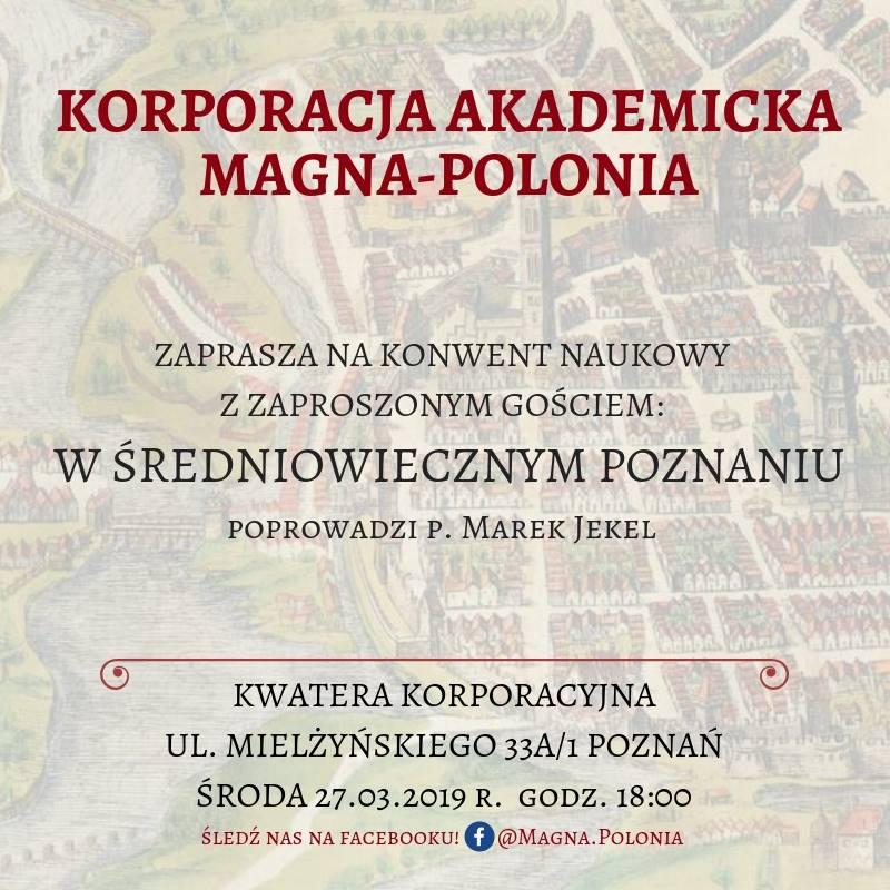 """Wykład pt. ,,W średniowiecznym Poznaniu"""""""