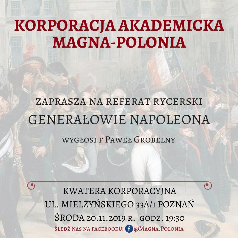 """Referat rycerski f Paweł Grobelny – """"Generałowie Napoleona"""""""