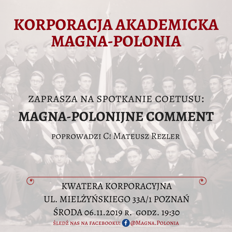"Coetus pt. ""Magna-Polonijne Comment"""