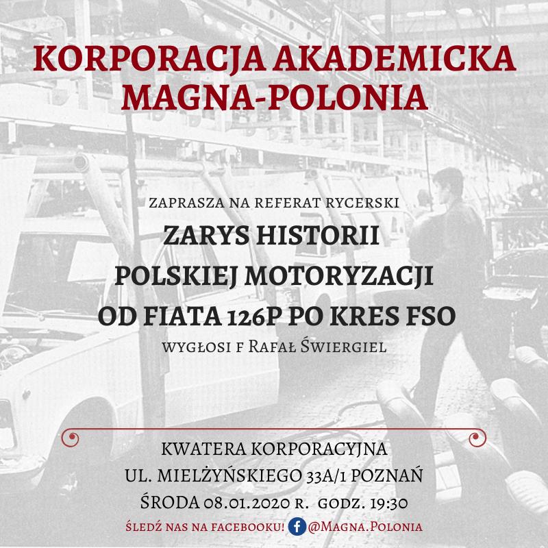 """Referat rycerski pt. """"Zarys historii polskiej motoryzacji"""""""