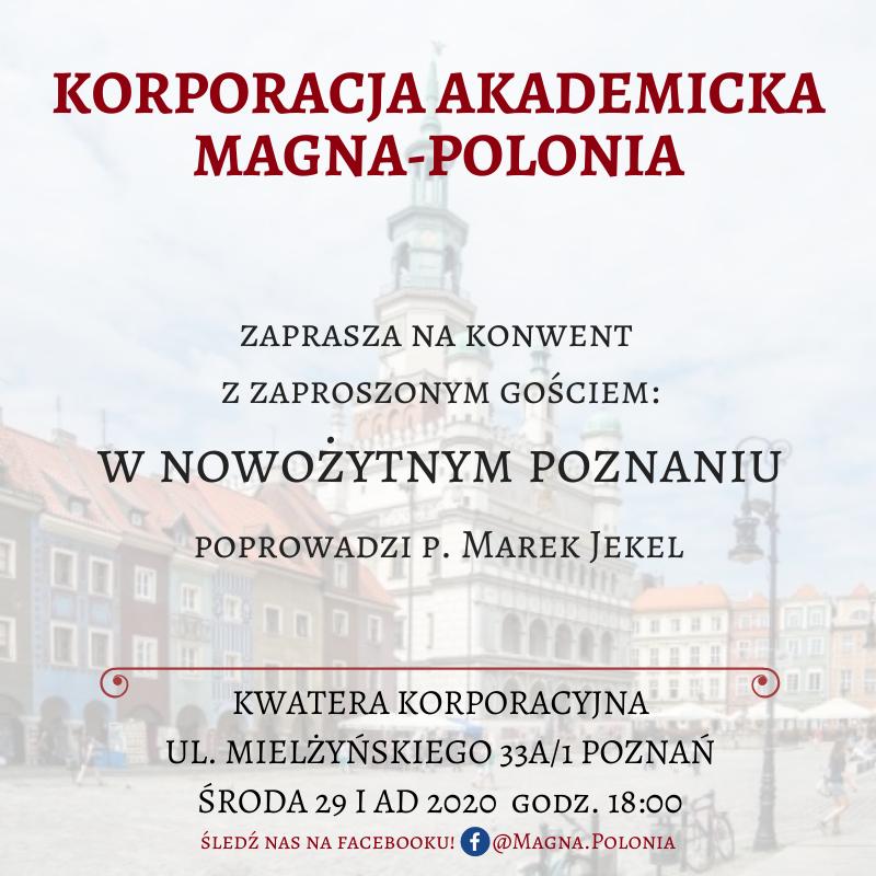 """Konwent naukowy pt. """"W nowożytnym Poznaniu"""""""