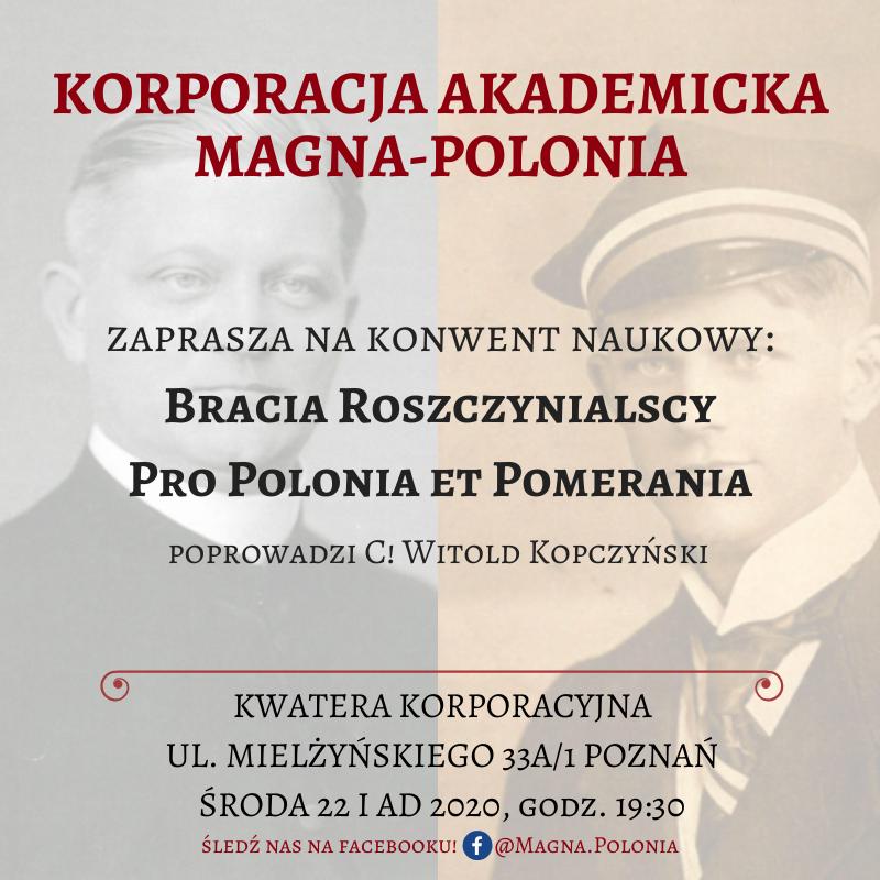"""Konwent pt. """"Bracia Roszczynialscy – Pro Polonia et Pomerania"""""""