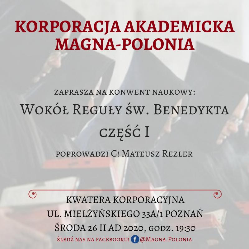 """Konwent naukowy pt. """"Wokół reguły św. Benedykta"""" cz. 1"""