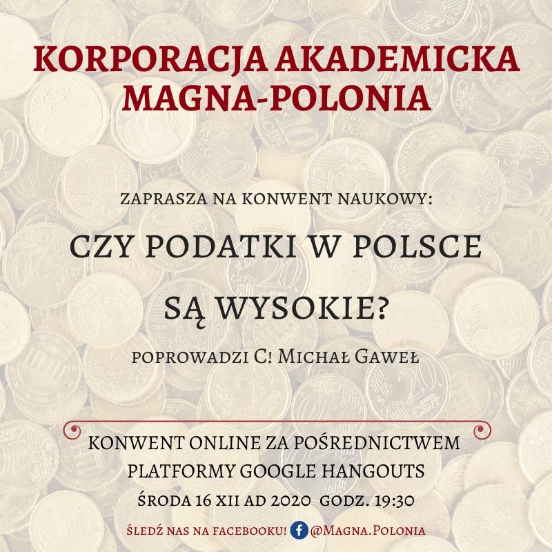 """Konwent naukowy pt. """"Czy podatki w Polsce są wysokie?"""""""