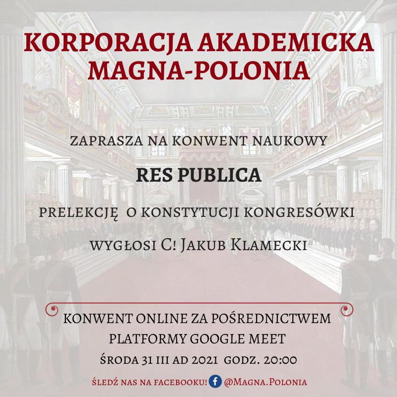 """Konwent naukowy z serii pt. """"Res Publica"""""""