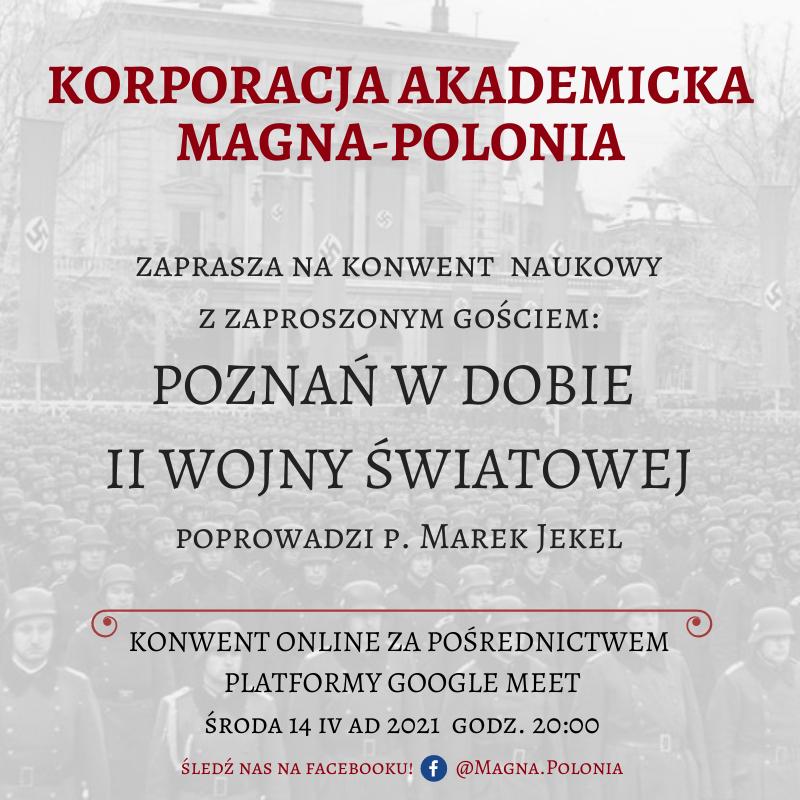 """Konwent naukowy pt. """"Poznań w dobie II Wojny Światowej"""""""