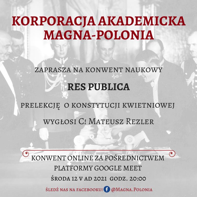 """Konwent naukowy z serii """"Res Publica"""" o konstytucji kwietniowej"""